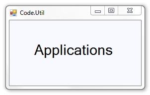 Applications on Code.Util